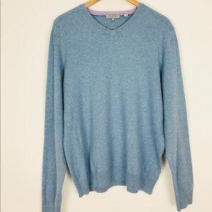 TED BAKER London Men's V Neck Pullover Sweater